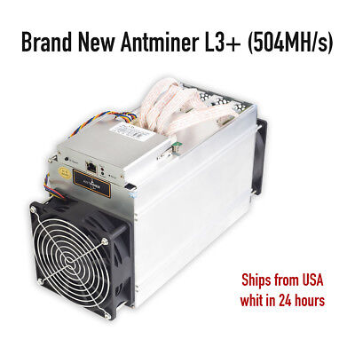 Antminer L3+ 504MH/s brand new in HANDS