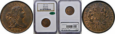 1806 Half Cent NGC MS-64 RB CAC