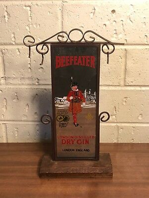 Vintage Beefeater London Distillery Dry Gin Mirror Stand - SEE NOTES