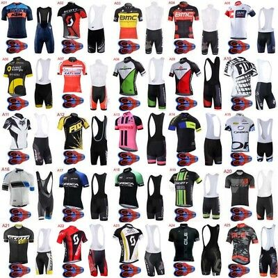 Bicycle 2018 Men Style cycling jersey Shirt MTB Bike 9D pad Bib shorts Set ZD10