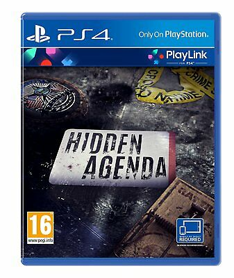 Hidden Agenda PS4 - PlayLink Puzzle Game for Sony PlayStation 4 NEW SEALED
