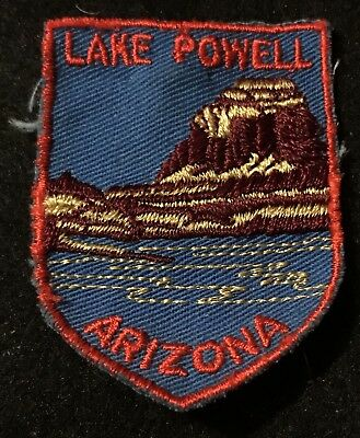 LAKE POWELL Patch ARIZONA NEVADA State Souvenir Travel VOYAGER Embroidered