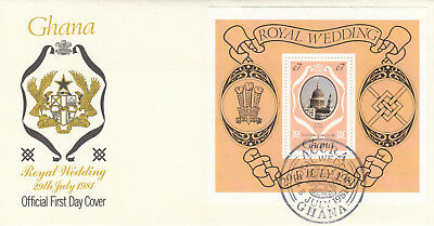 (10946) Ghana FDC Princess Diana Royal Wedding Accra 8 July 1981