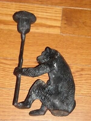 Monkey/ Baboon candle holder Bronze or Brass