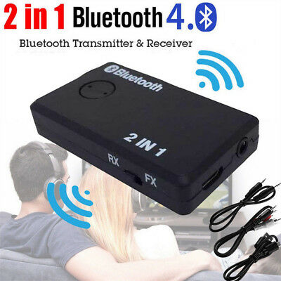 2IN1 Bluetooth4.0 Adattatore A2DP Ricevitore Trasmettitore 3.5MM Audio TV MP3 PC