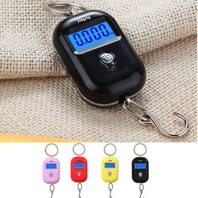 Electronic Portable LCD Digital Luggage Weight Hanging Scale Travel 25Kg x 5g