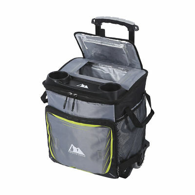 50 Can Cooler With Rolling Cart Camping Picnic Trolley Collapsible Outdoor FUN