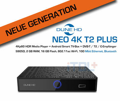 Dune HD Neo 4K T2 Plus - 4Kp60 HDR Mediaplayer und Android Smart TV Box+DVB-T2/C