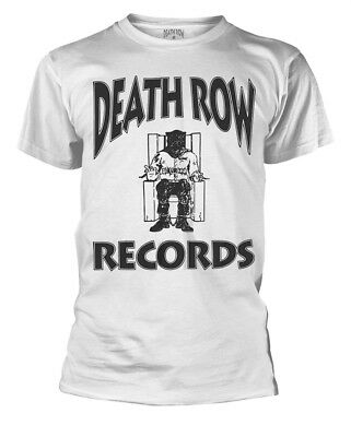 Death Row Records 'Logo' (White) T-Shirt - NEW & OFFICIAL!