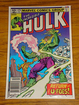 Incredible Hulk #276 Vol1 Marvel Comics October 1982