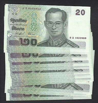 Thailand P-109 Gem UNC 20 Baht (30) total notes