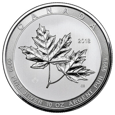 2018 Canada Magnificent Maple Leaves 10 oz. Silver $50 BU SKU53164