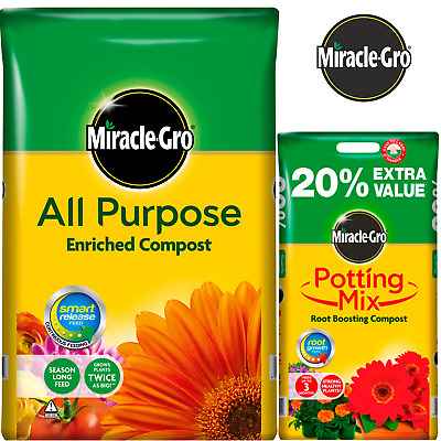 Miracle-Gro All Purpose Enriched Compost 8L 16L 20L 40L 50L Potted Plants Soil