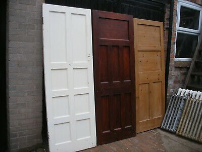 Reclaimed 1930s assorted panel doors. Unrestored  (6 available)