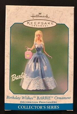 Hallmark: BIRTHDAY WISHES BARBIE Ornament - #3 and Final in Series - Dated 2003