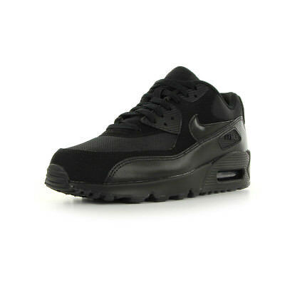 Chaussures Baskets Nike homme Air max 90 essential taille Noir Noire Cuir Lacets