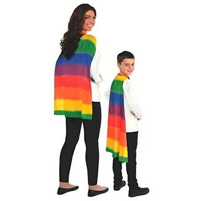 "Amscan Party Perfect Team Spirit Superhero Cape, Multi Color, 13 x 8.5"" - Pride"
