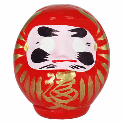"Japanese 3.5""H Red Daruma Doll for Luck & Good Fortune SUCCESS, Made in Japan"