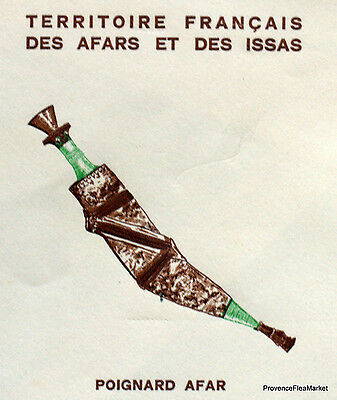 Afars And Issas Djibouti Dagger Fdc Envelope Premier Day Ha13