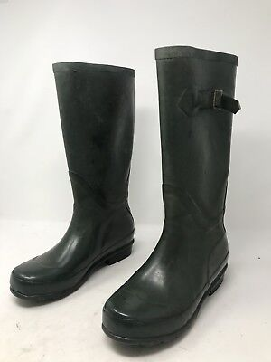 f8d9b66e9a1 L.L. BEAN WELLIES Hunter Green Rubber Rain Boots Kids Size 4 ...