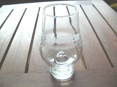 """Jameson Irish Whiskey Glass Etched & Embossed, 4.5"""" T Signed Glencairn Glass"""