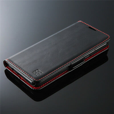 Luxury Genuine Magnetic Leather Wallet Case Cover For Samsung Galaxy S8 / Note 8