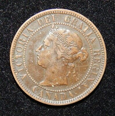 1886 Canada Large Cent 1C Queen Victoria Key Date Better Grade