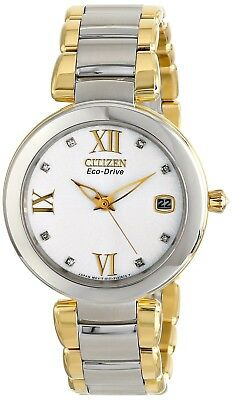 Citizen Eco-Drive Women's EO1114-52A Marne Analog Display Two Tone... SHIPS FREE