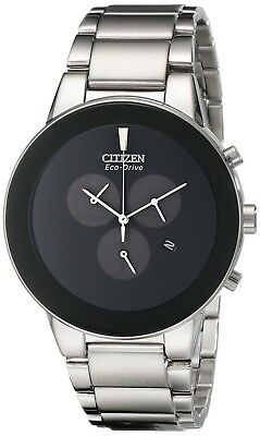Citizen Eco-Drive Men's Stainless Steel Axiom Chronograph Watch AT2240-51E