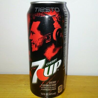 7up TIESTO Limited Edition FULL 16oz Can Discontinued & Rare