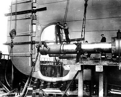 New 11x14 Photo: Men Working on the Unfinished Stern of RMS TITANIC Ship