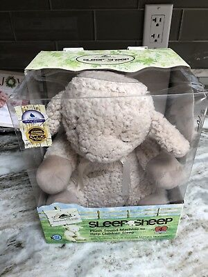 NEW Cloud B Sleep Sheep Plush Sound Machine Soother 4 Soothing Sounds Damage Box
