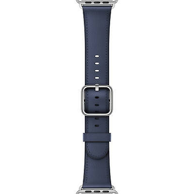 Genuine Apple 38mm Classic Buckle - Midnight Blue Leather Watch Band  New Other!
