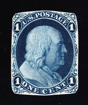 US 63-E9a 1¢ Franklin Essay w/ Weiss Certificate FRESH-SOUND-SCARCE SCV $600