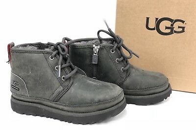 Ugg Australia Toddler Neumel II WP Waterproof Kid's Shoes Lace 1017322T Charcoal