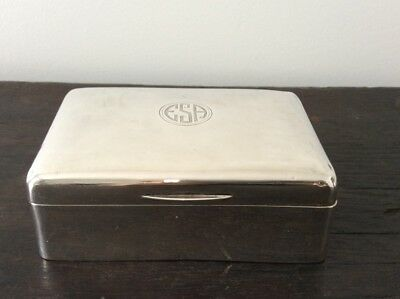 Antique Sterling Silver Cigar Box / Hallmarked / Trinket Box / Jewellery Box