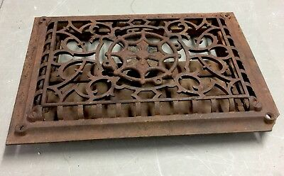 Antique Cast Iron Metal Floor Wall Register Vent Cover / Heating Grate