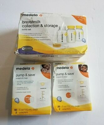 Medela Breast milk Collection & Storage Bottle Set, Pump & Save Breast milk Bags
