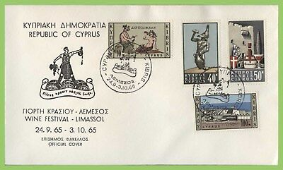 Cyprus 1965 Wine set on Special Cancel commemorative cover