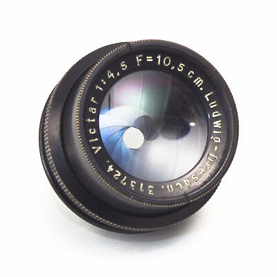 Ludwig Dresden Victar 10.5cm 105mm F4.5 Vintage Enlarging LENS 31mm fit Germany
