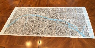 Vintage Blondel La Rougery Paris Map Souvenir Scarf