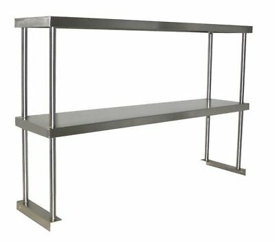 "Toolots Stainless Steel Double Deck Overshelf 18/"" x 72/"" x 32/"""