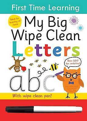 First Time Learning Big Wipe Clean- Letters by Kay Massey   Spiral-bound Book  