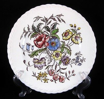 """Pre-Owned Hand-Painted Vernon Kilns """"May Flower"""" Dinner Plate, 10 ¼"""""""