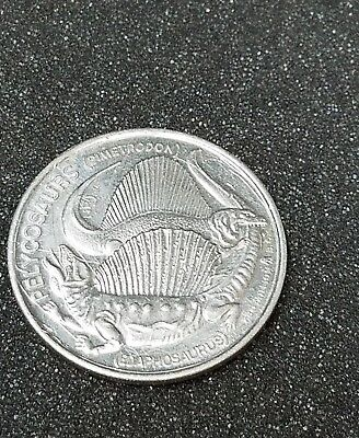 "DINOSAURS ""when the world was young PELYCOSAURS COIN/TOKEN"