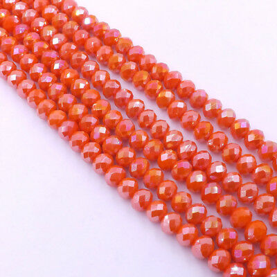 Jewelry Faceted 70pcs #5040 6x8mm Rondelle glass Crystal Flat Beads #270