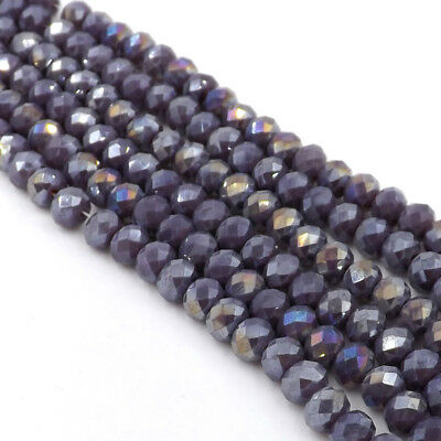 Jewelry Faceted 70pcs #5040 6x8mm Rondelle glass Crystal Flat Beads #269