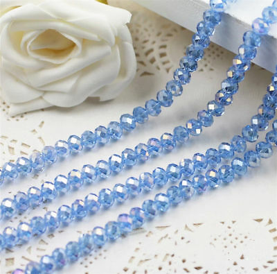 Jewelry Faceted 70pcs #5040 6x8mm Rondelle glass Crystal Flat Beads #191