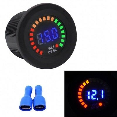 Car Motorcycle LED Panel Digital Voltage Socket Meter Display Voltmeter DC 12V