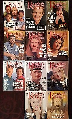 Vintage Readers Digest Magazines 1999 - 11 Issues